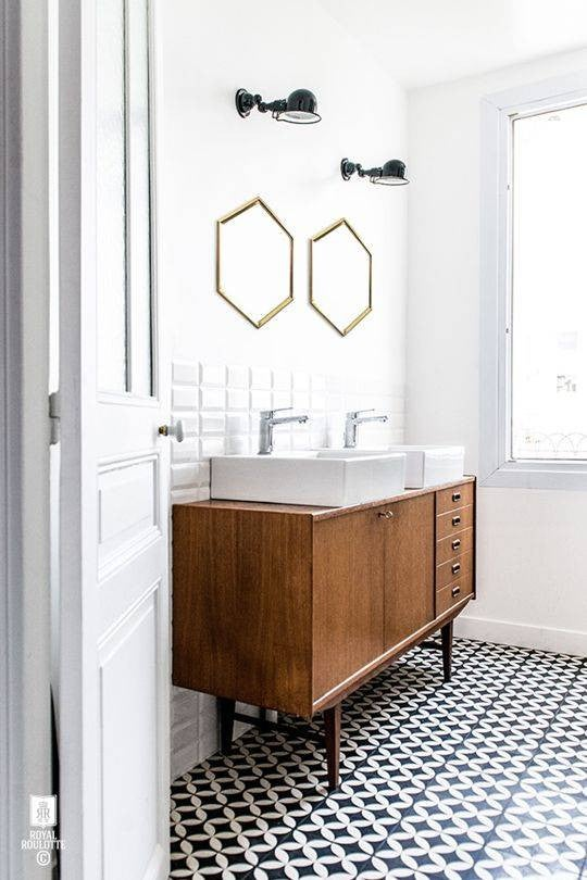 Bathroom Tile Patterns Black & White Bathroom