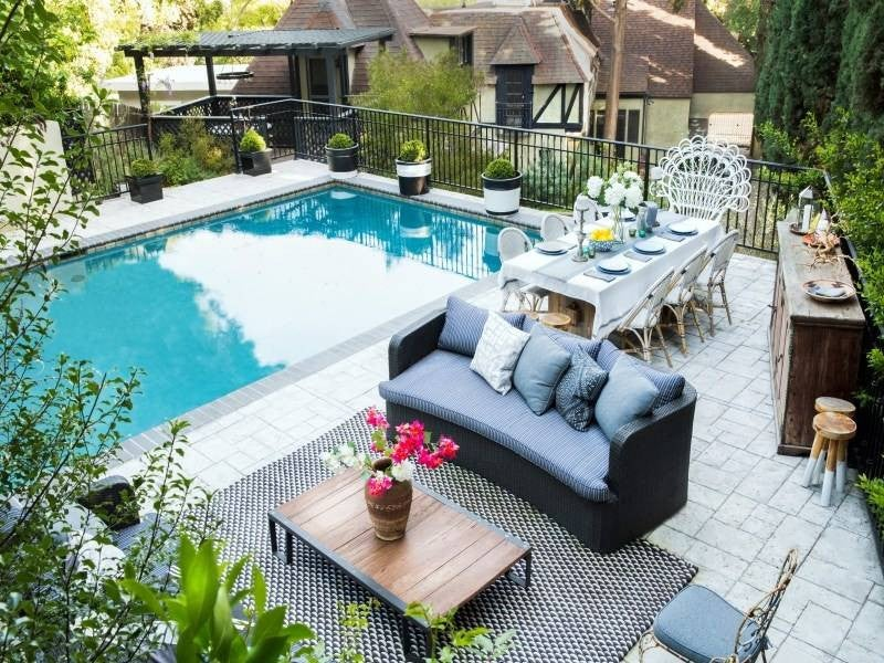 Celebrity Outdoor Living Spaces Dianna Agron