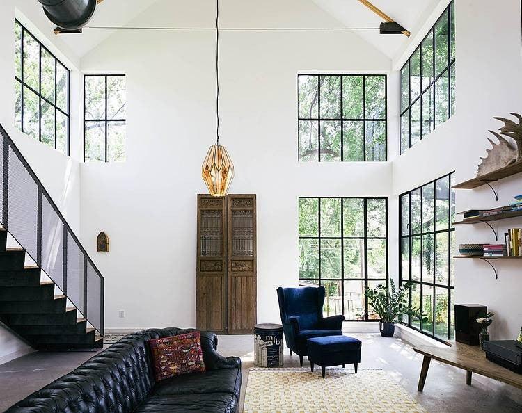 Best Floor To Ceiling Windows White Living Room Black Window Frames
