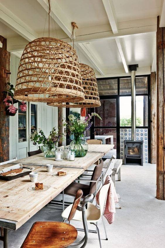 40 Dining Rooms With Boho Interior Design Domino