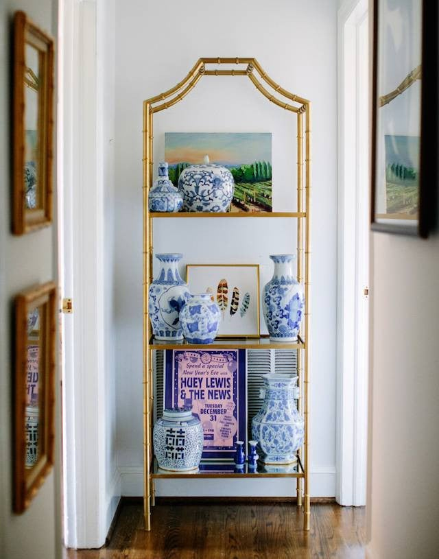 nail color trends white hallway with chinoiserie vases