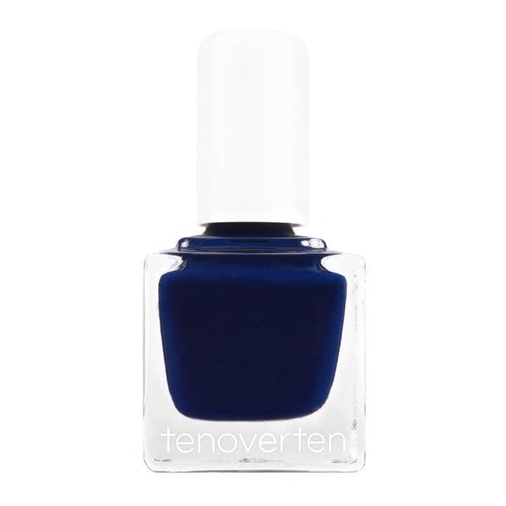 nail color trends Commerce by Tenoverten navy nail polish