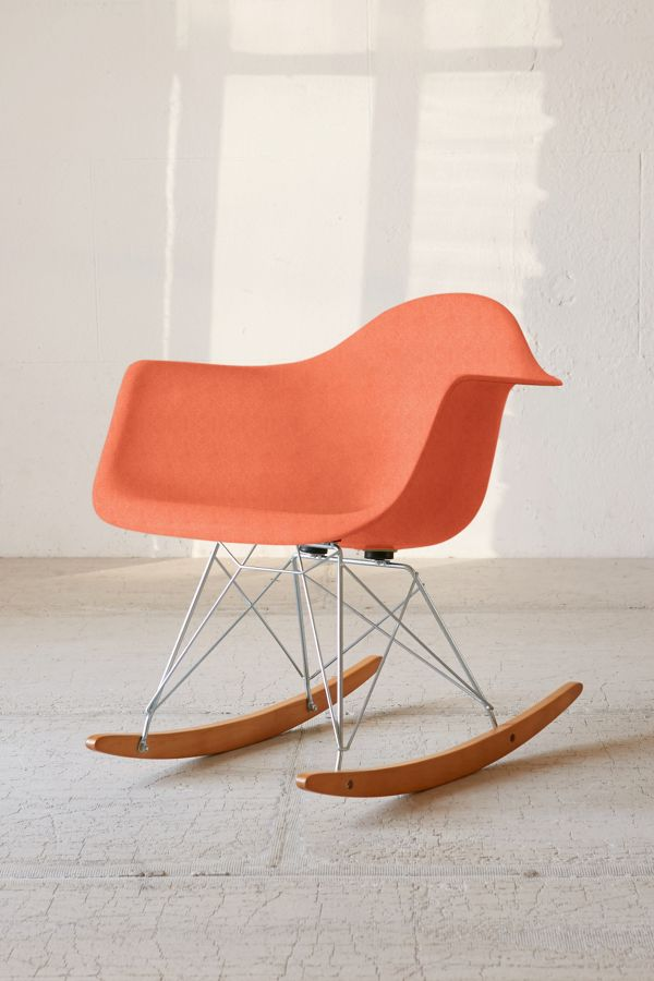 10- urban outfitters orange accent rocking chair