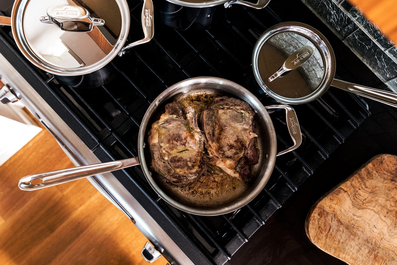 steak dinner all-clad