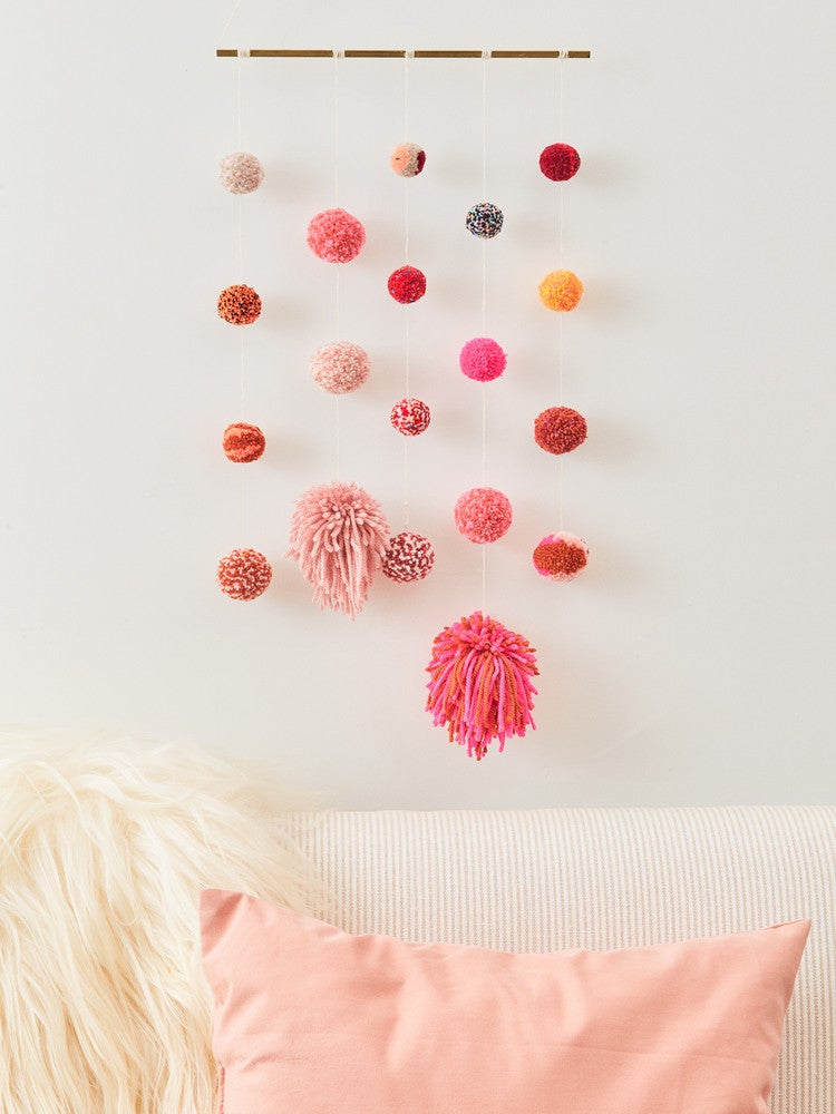 The Easy Way to DIY Colorful Pom-Poms