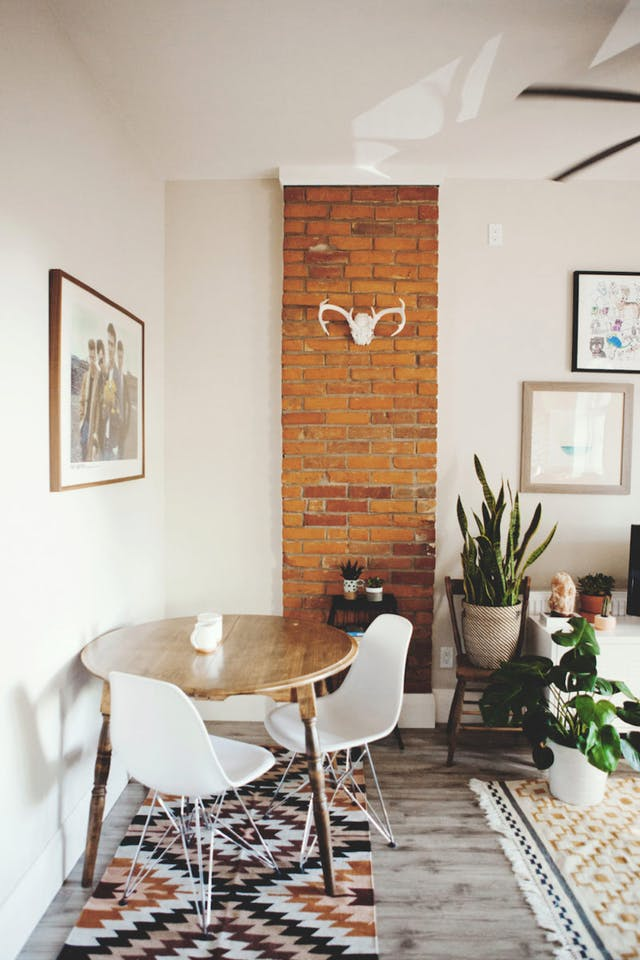 How To Push Dining Table Against Wall For More Kitchen Space Design
