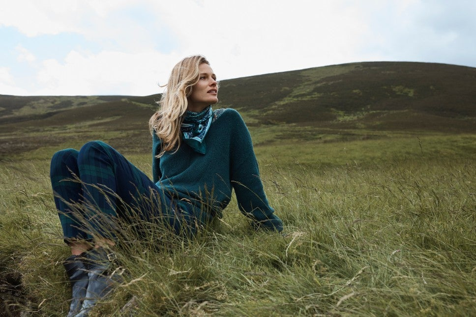 H&M x Morris & Co. fall collection – green scarf