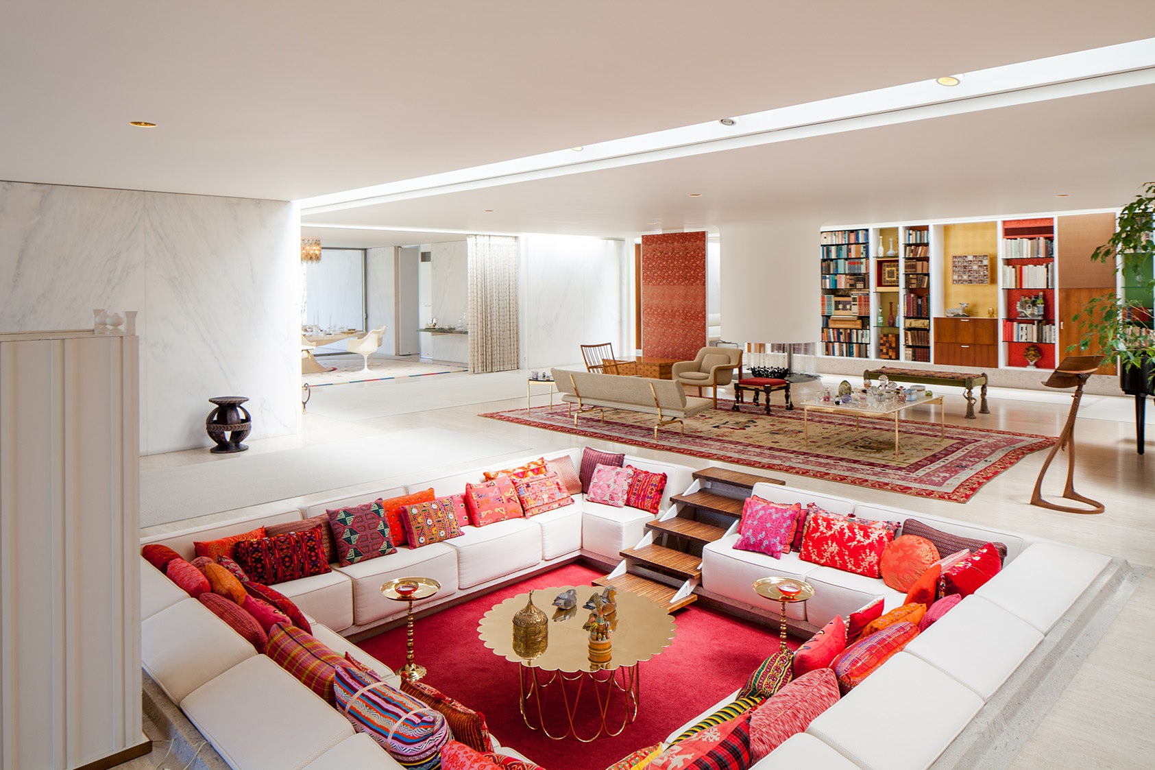 How to Pull Off a Sunken Living Room in the 21st Century