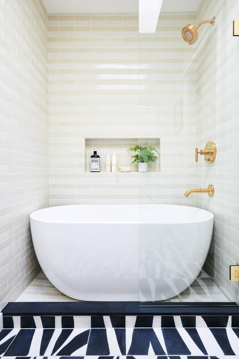 Shower And Freestanding Bathtub