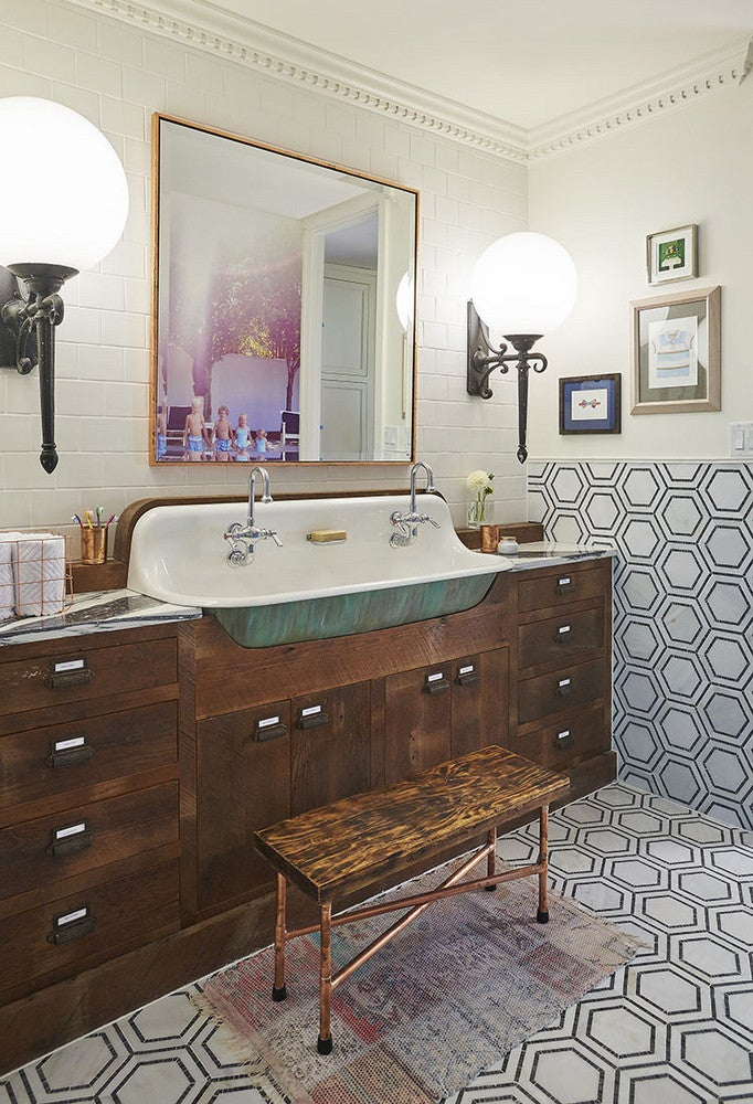 bathroom makeovers modern take on 1920 s bathroom domino rh domino com