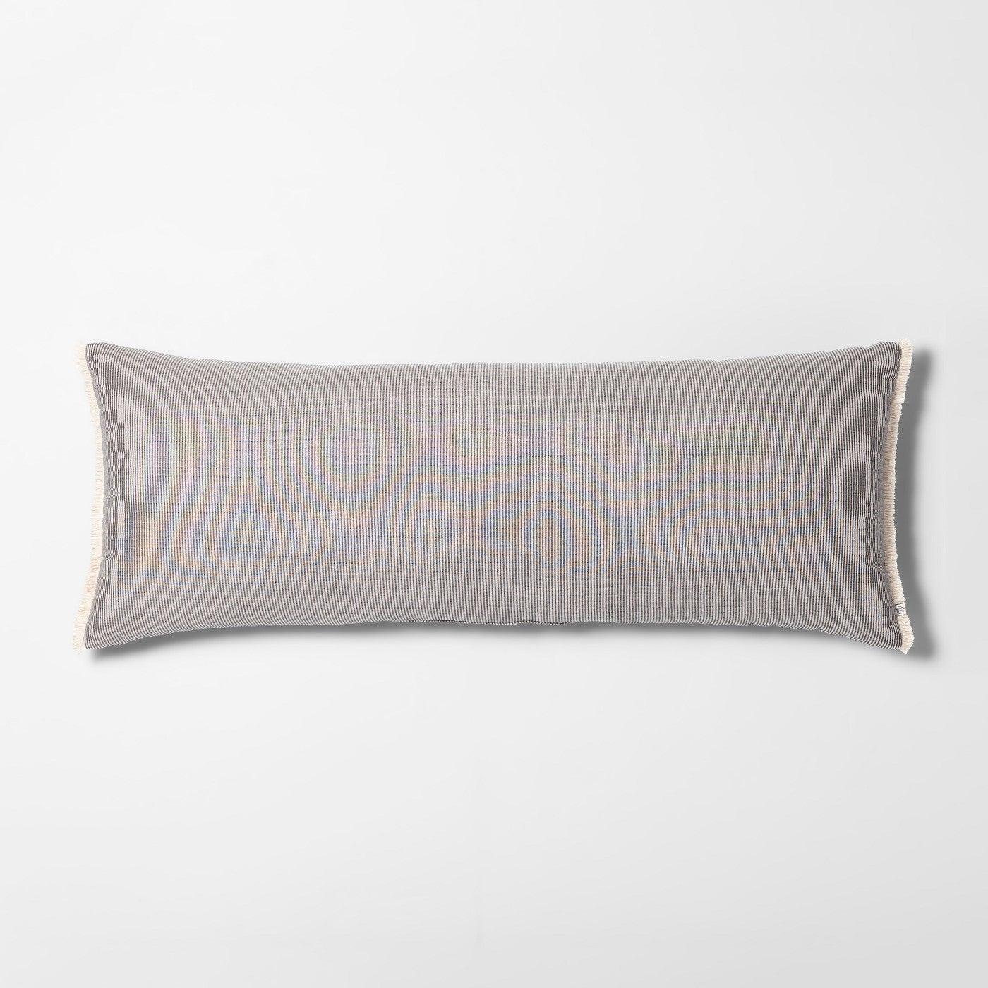 Lumbar Throw Pillow Striped Double Weave