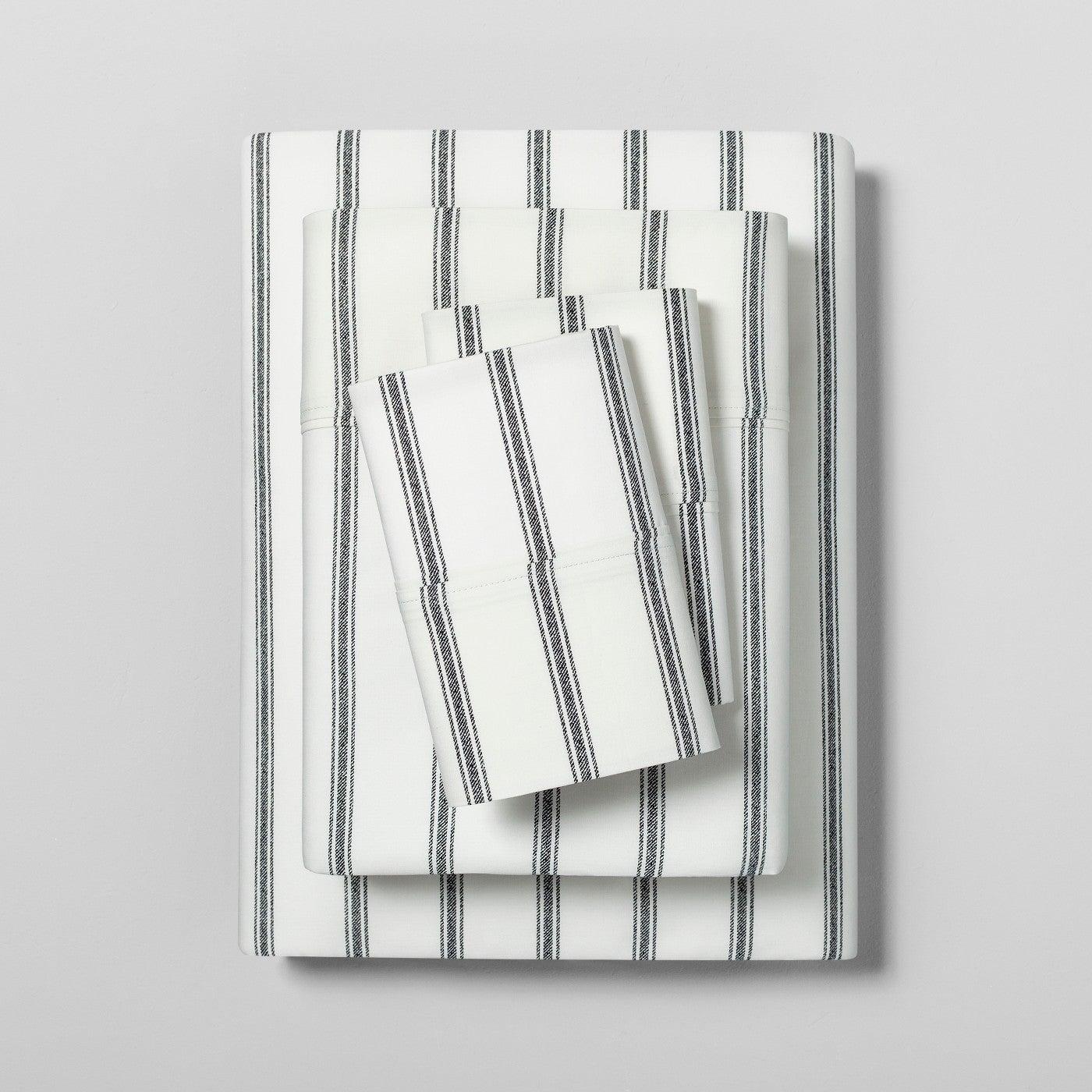 Sheet Set Organic Tic Stripe