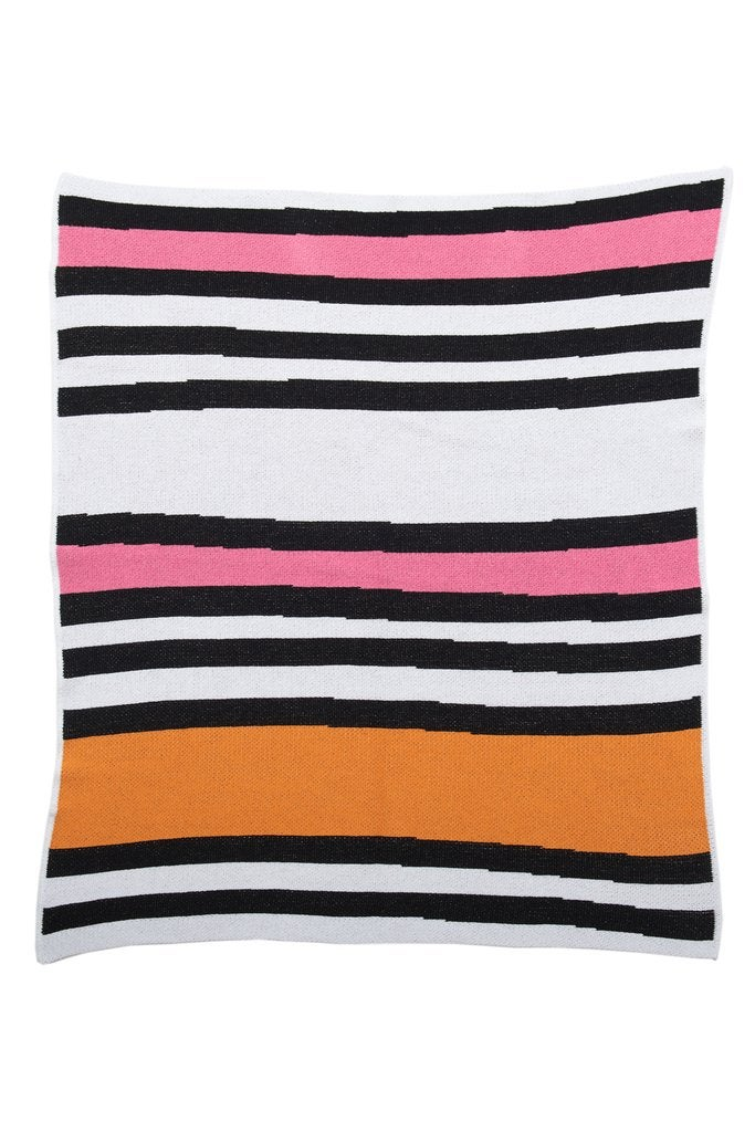 CANDY STRIPES BABY BLANKET