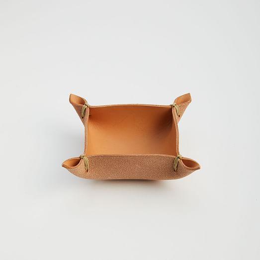 West Elm Leather Box