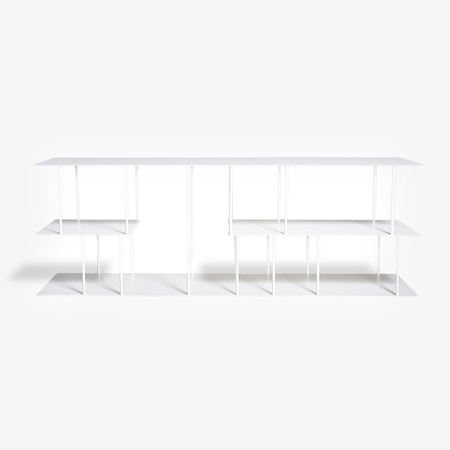 abcdna helix steel console white