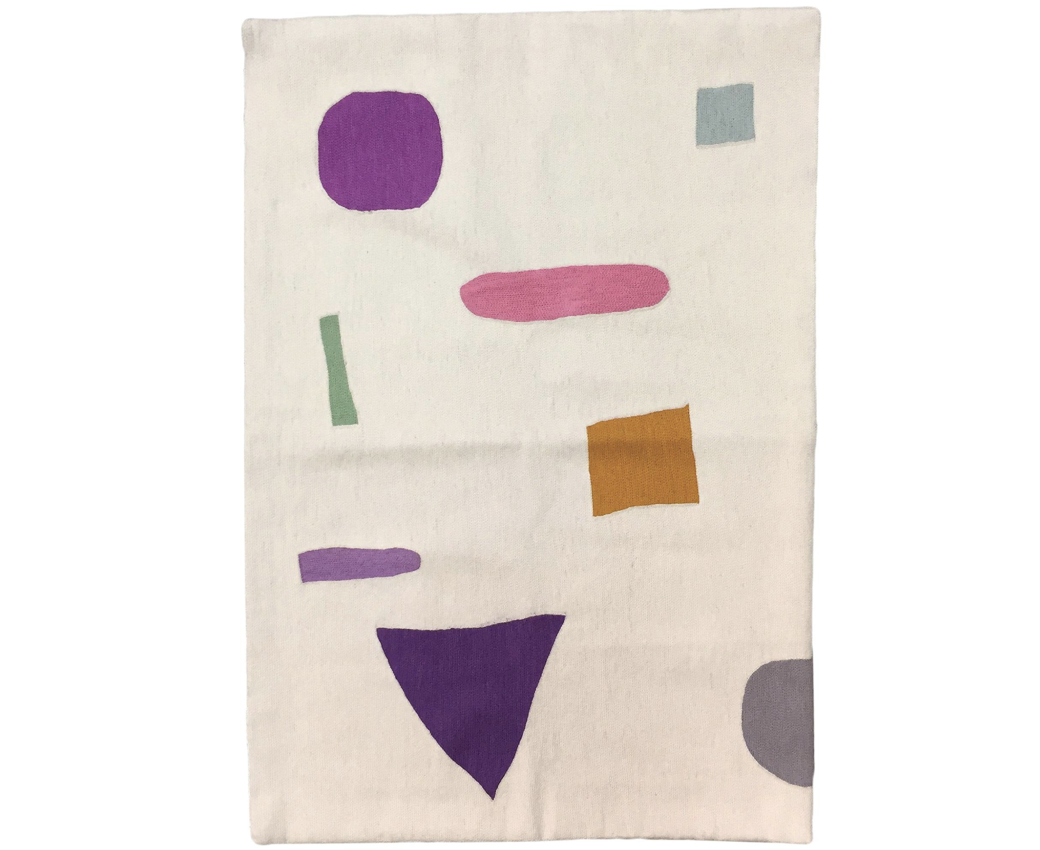 Geometric Tamara Hand Embroidered Colorful Modern Rug