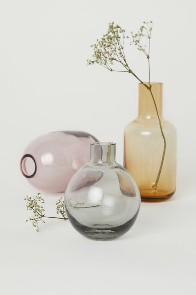 H&M glass vases