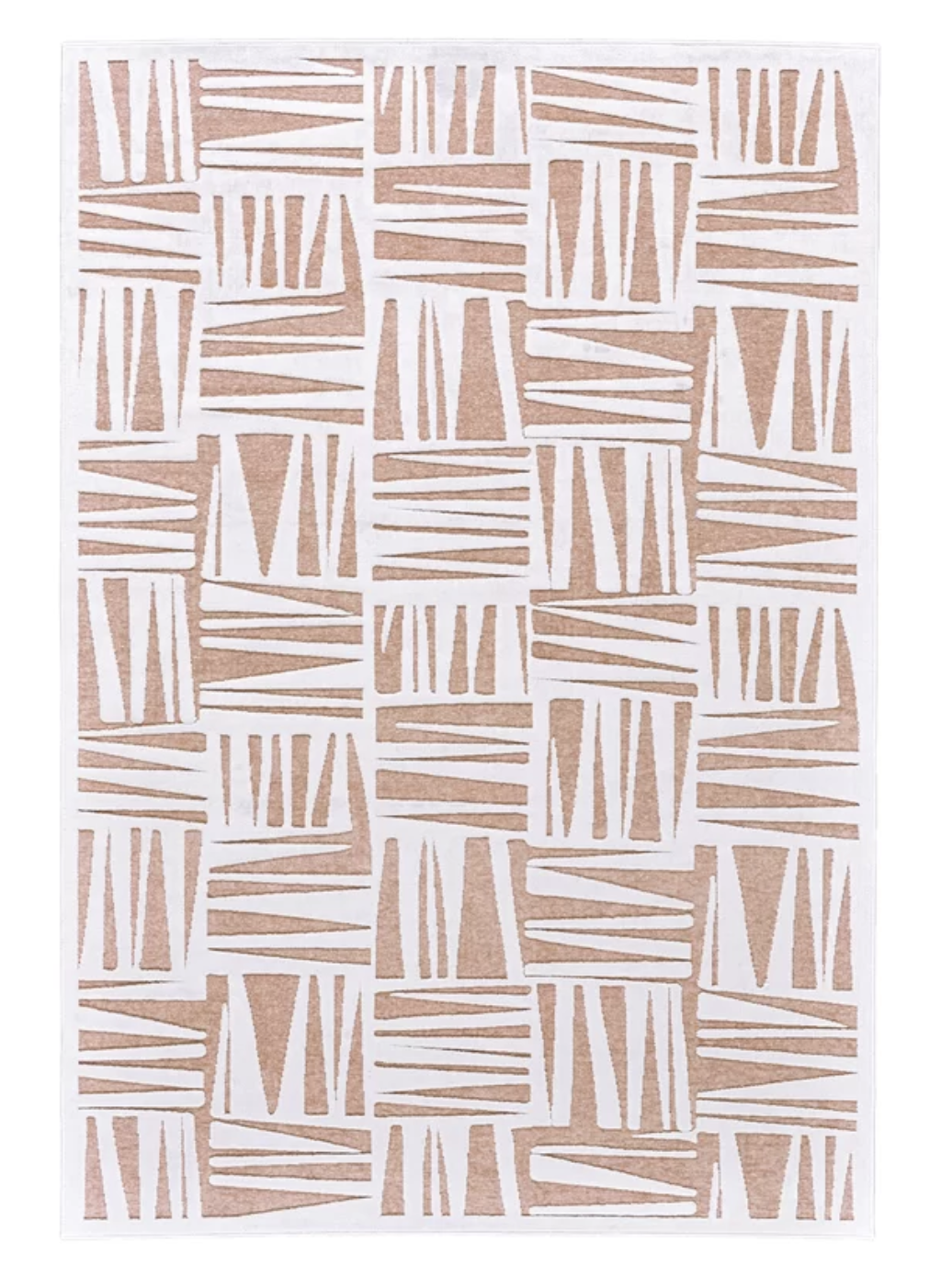 white blush rug