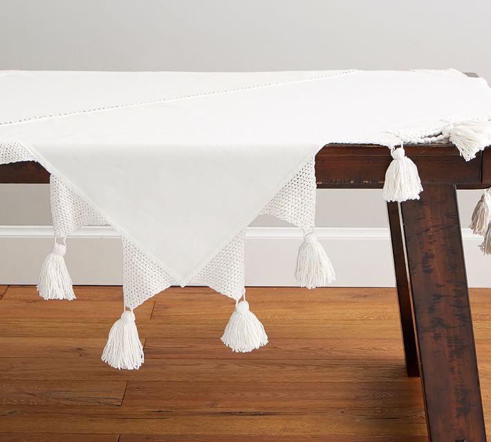 The Emily & Meritt Macrame Table Throw