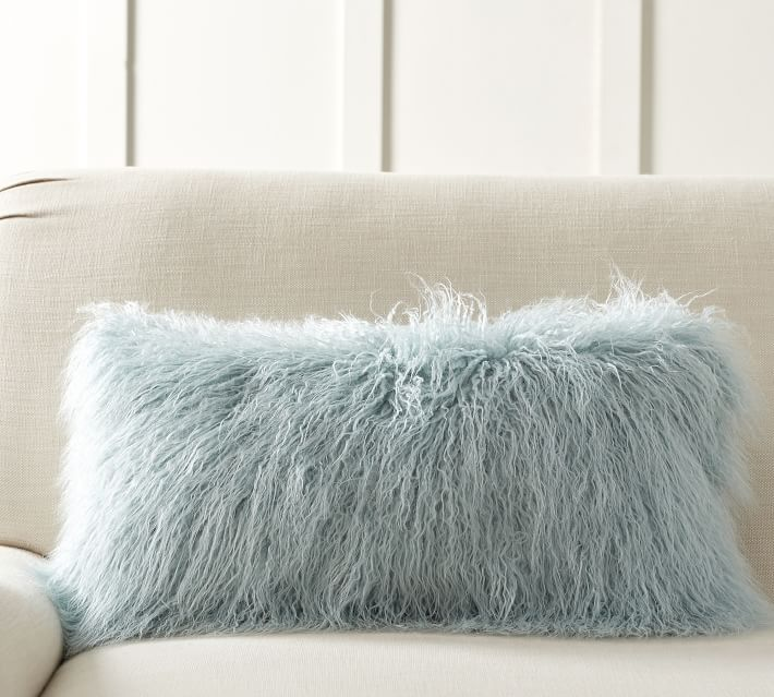 The Emily & Meritt Mongolian Faux Fur Lumbar Pillow Cover