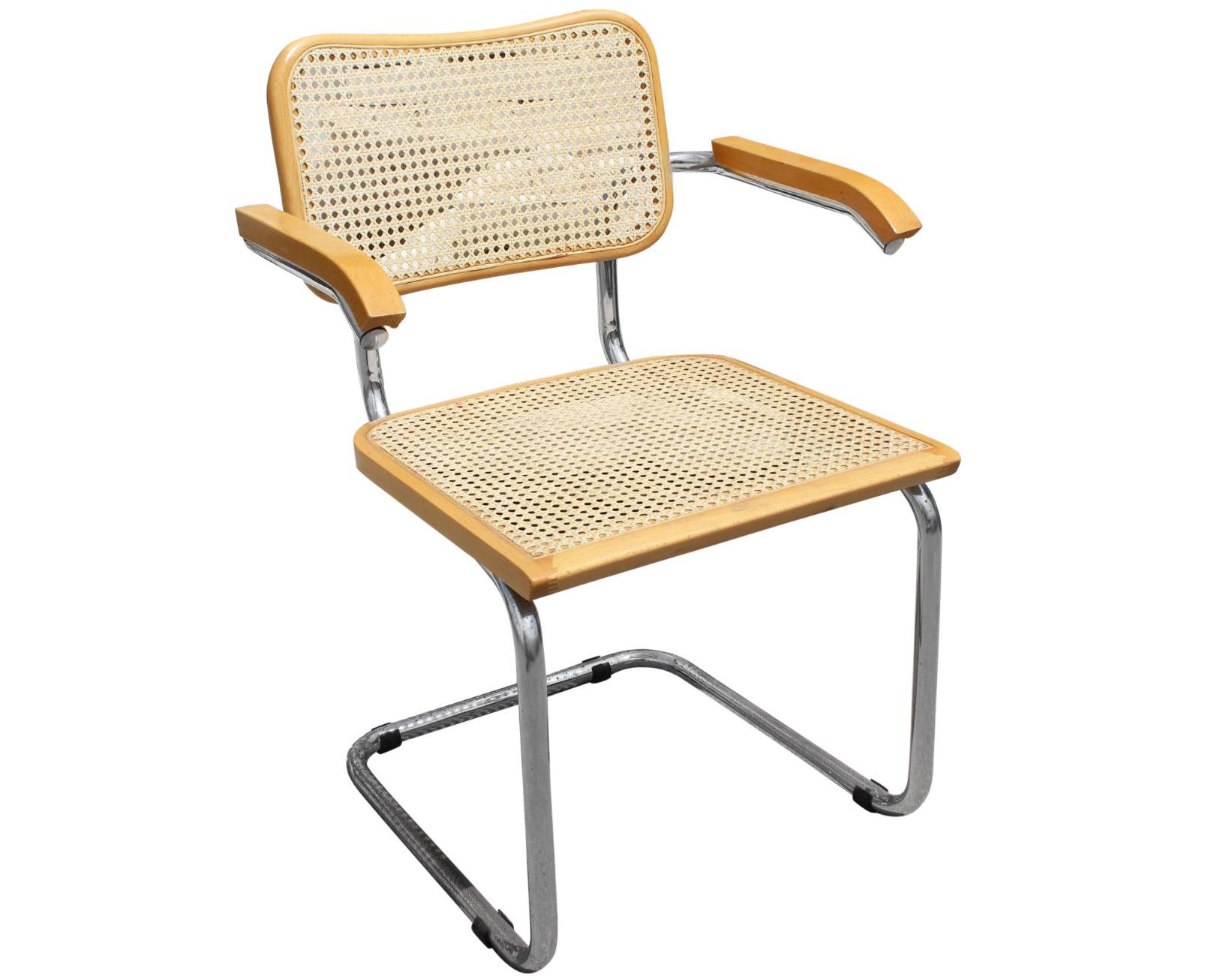 1970s Marcel Breuer Cane and Chrome Cesca Chair