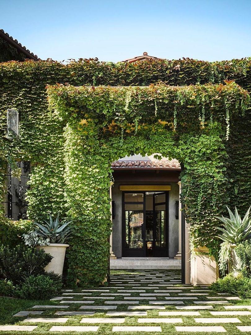 Kourtney Kardashian Gave a Sneak Peek Inside Her Ivy-Covered Home