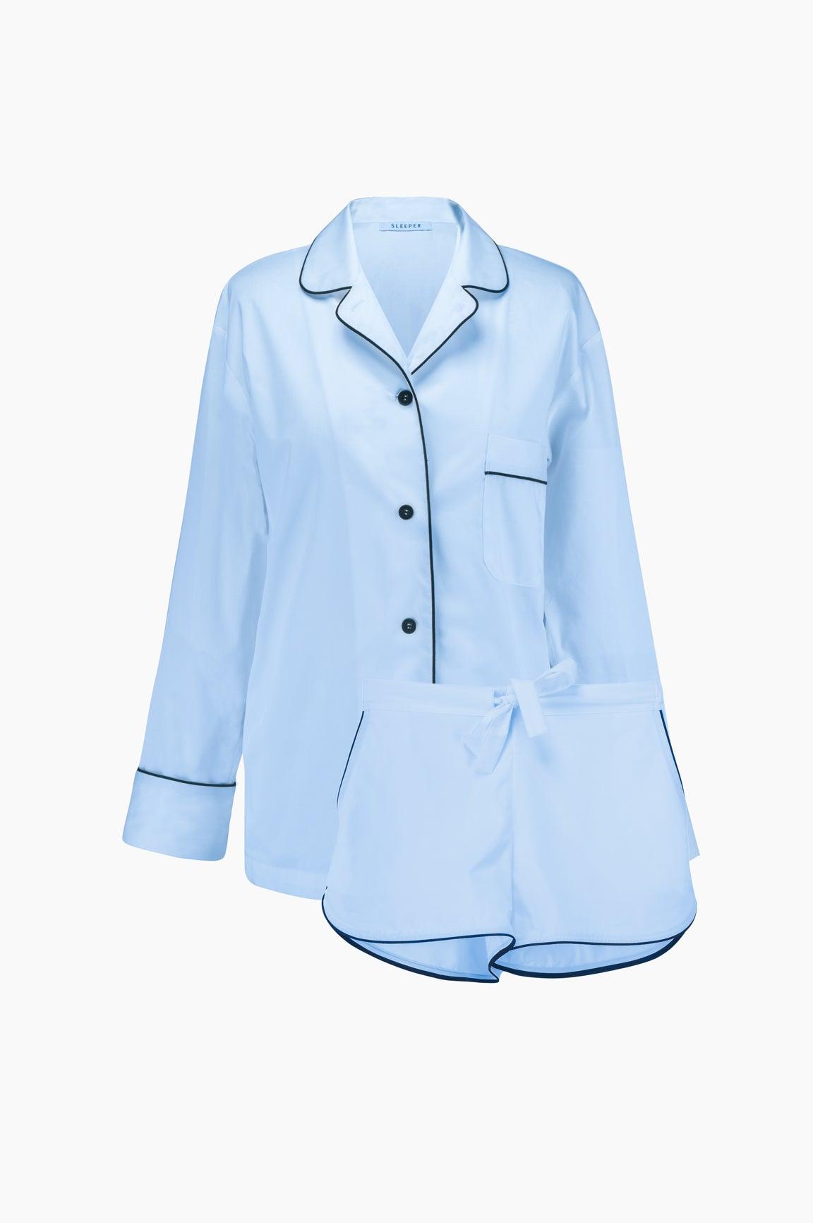 Maria Blue Pajama Set with Shorts