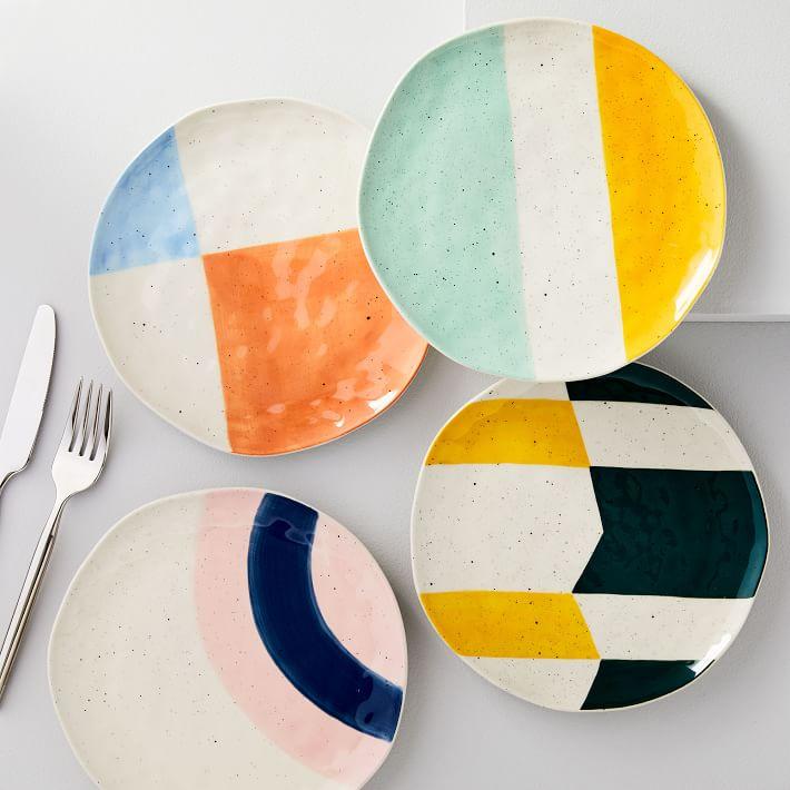 Pastel Speckle Salad Plates