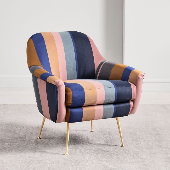 Phoebe Chair – Multi Stripe
