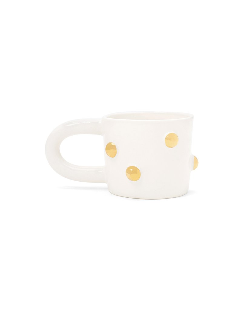 GOLD BUMP MUG – WHITE THE PURSUITS OF HAPPINESS