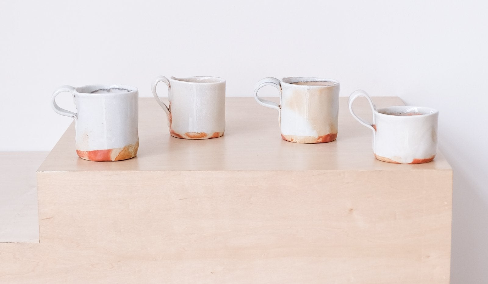 MONDAYS PROJECTS WOOD FIRED PORCELAIN MUGS