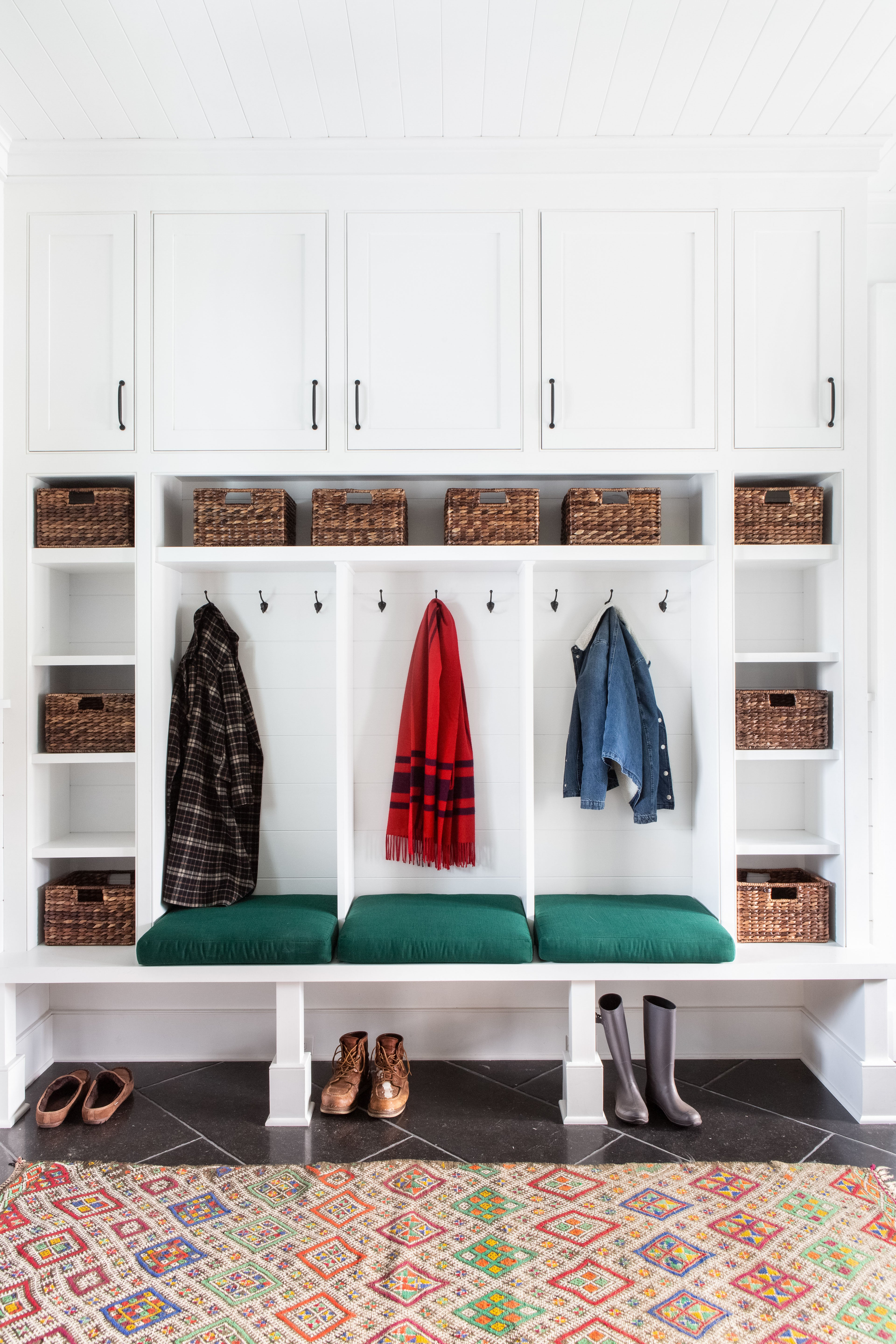 11. Upstate Farmhouse by Chango _ Co. – Mud Room Detail