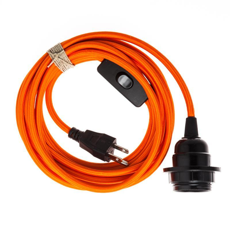 orange plug in pendant