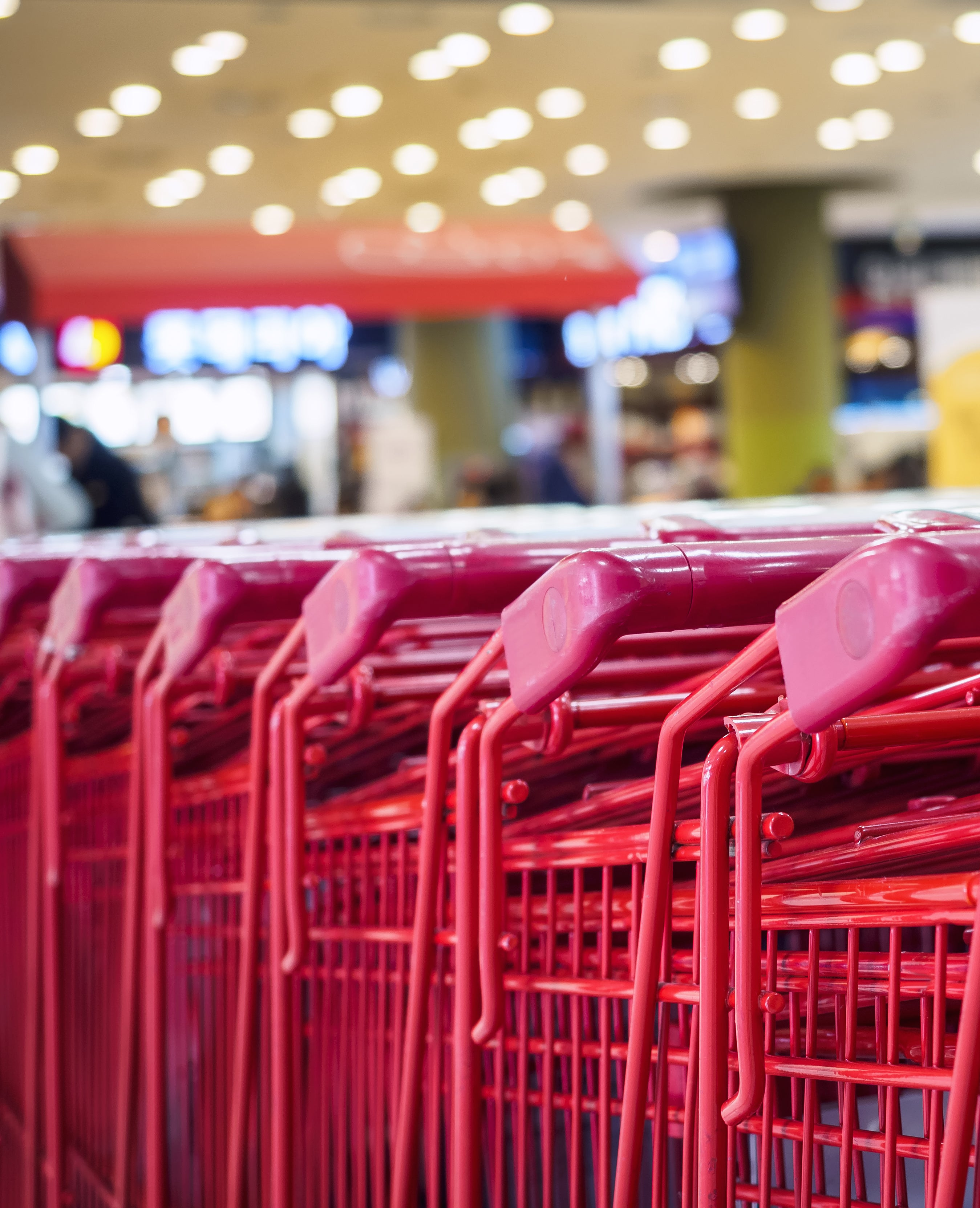 Supermarket Trolley Shopping Retail Business concept