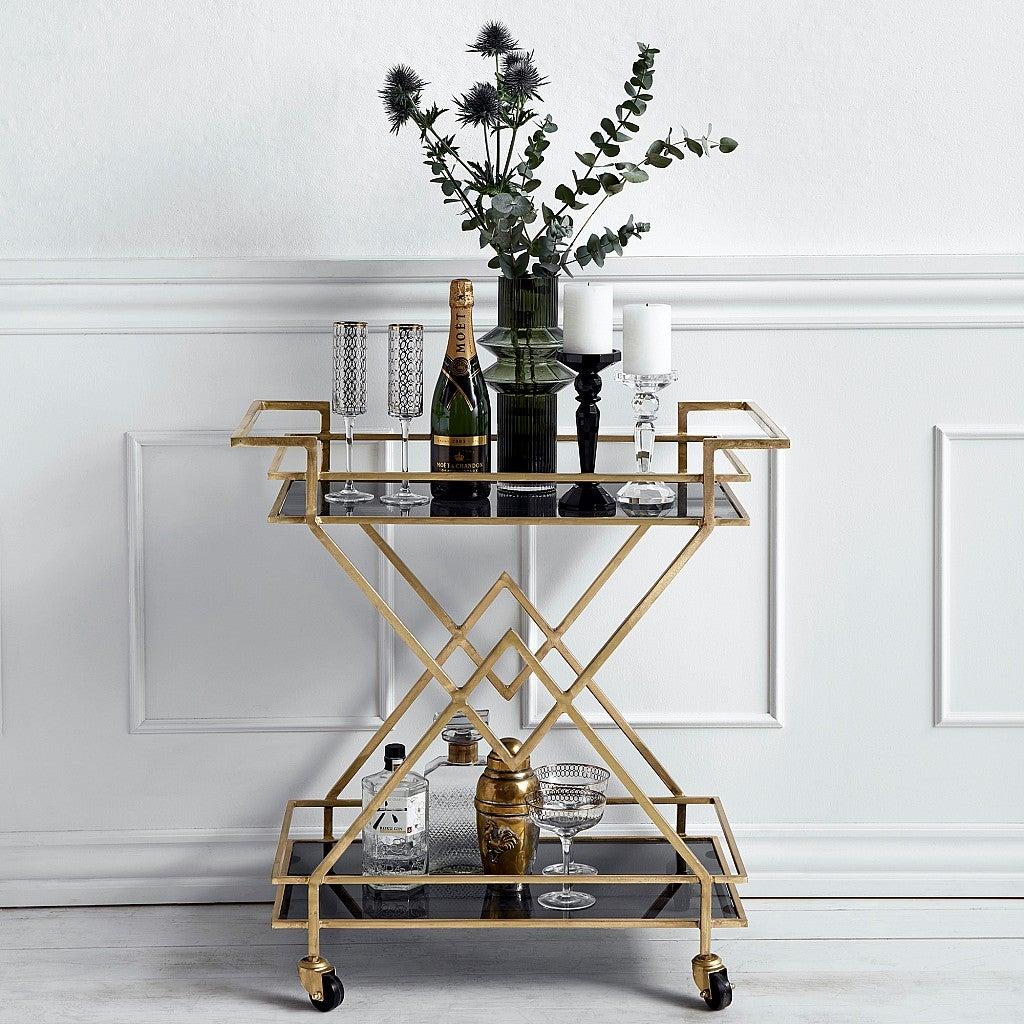 Fabulous Golden Drinks Trolley