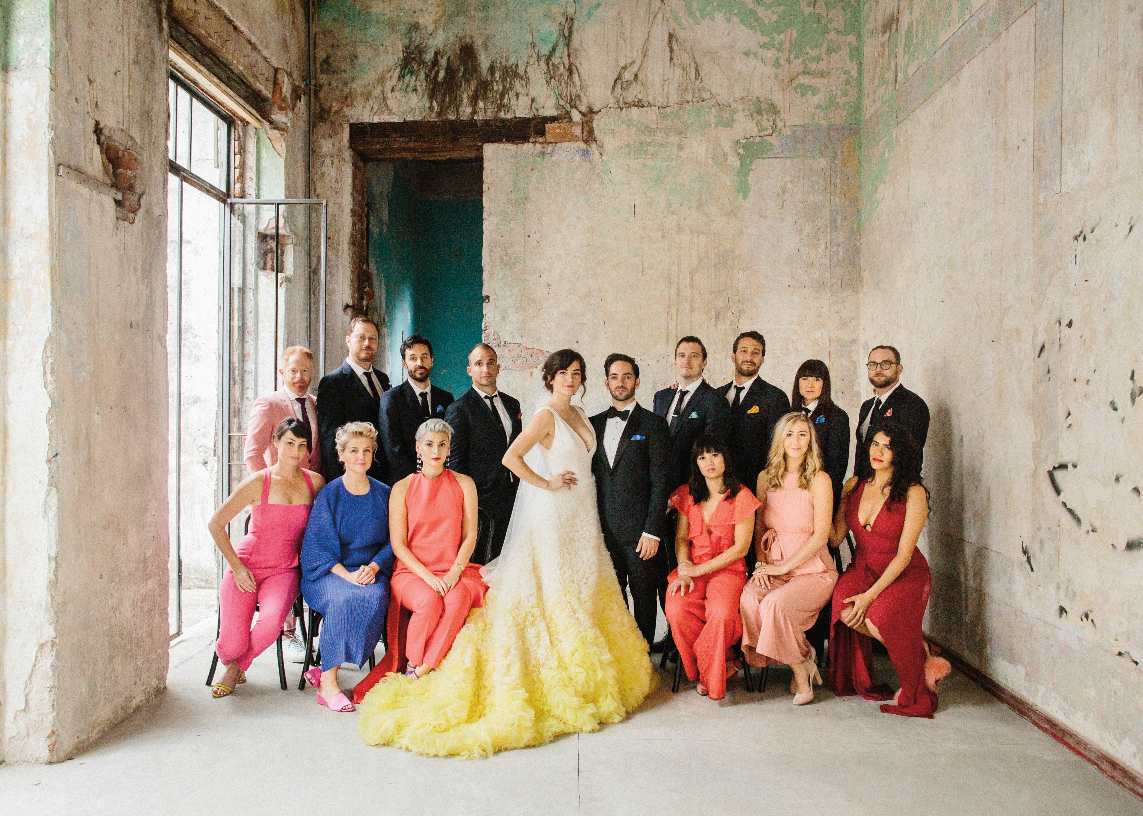 Ellen Marie Bennett And Casey Caplow S Colorful Wedding