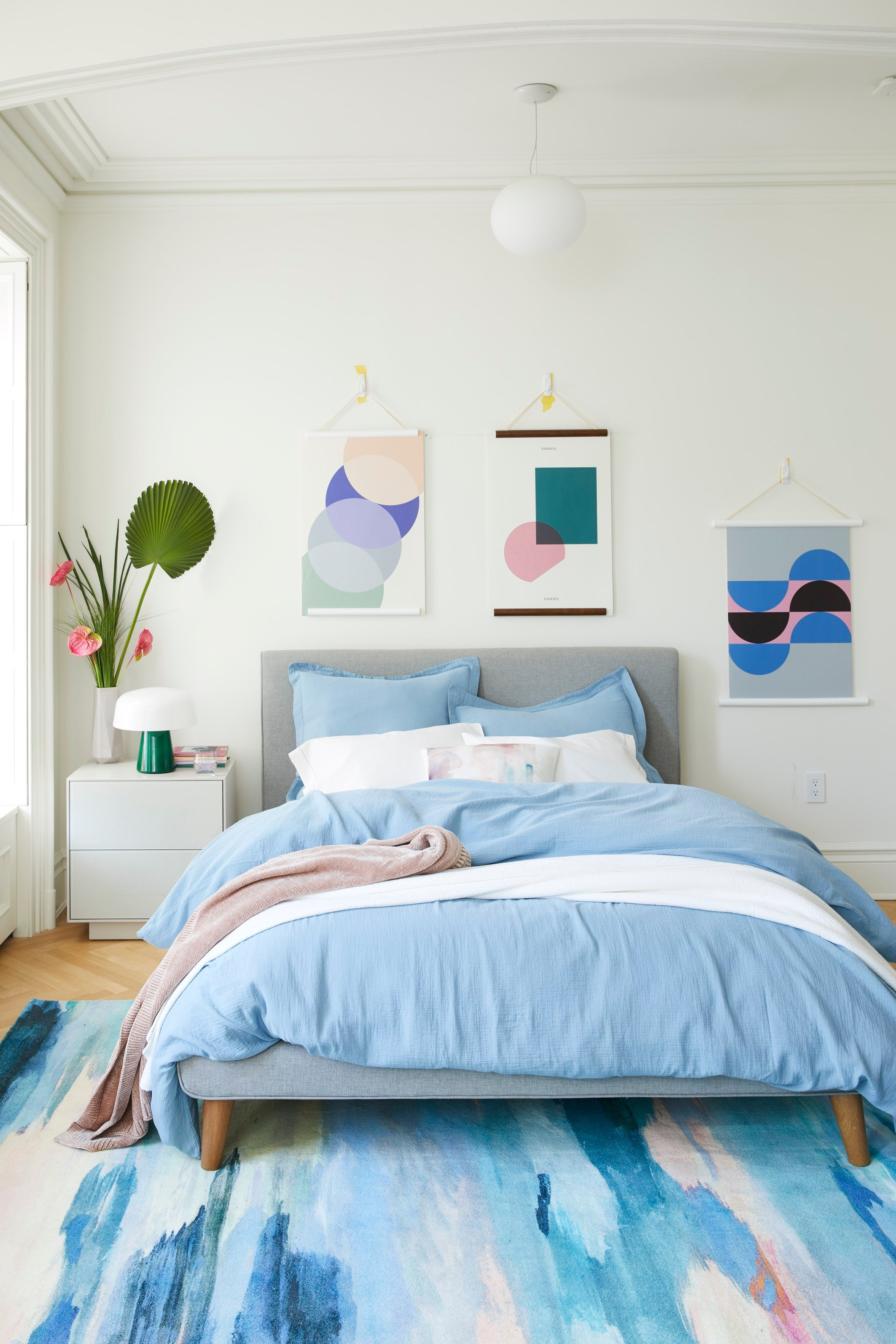 Favorite Home Color Trends for Spring Baby Blue and Gray