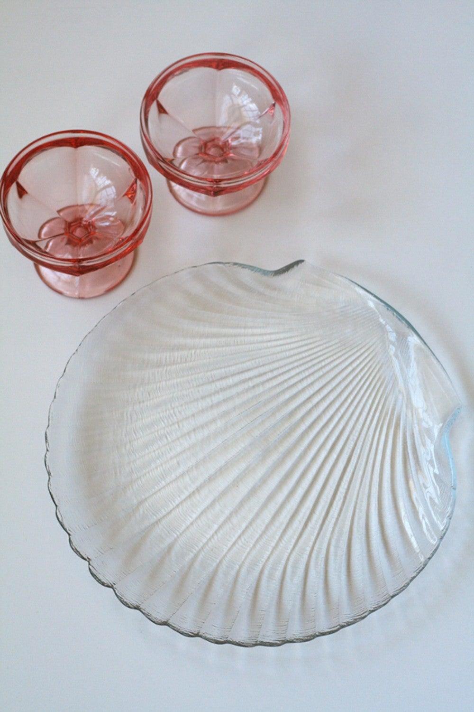 Shell Glass Plate