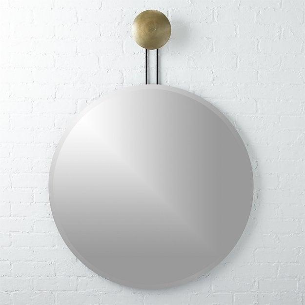 dot brass suspended mirror