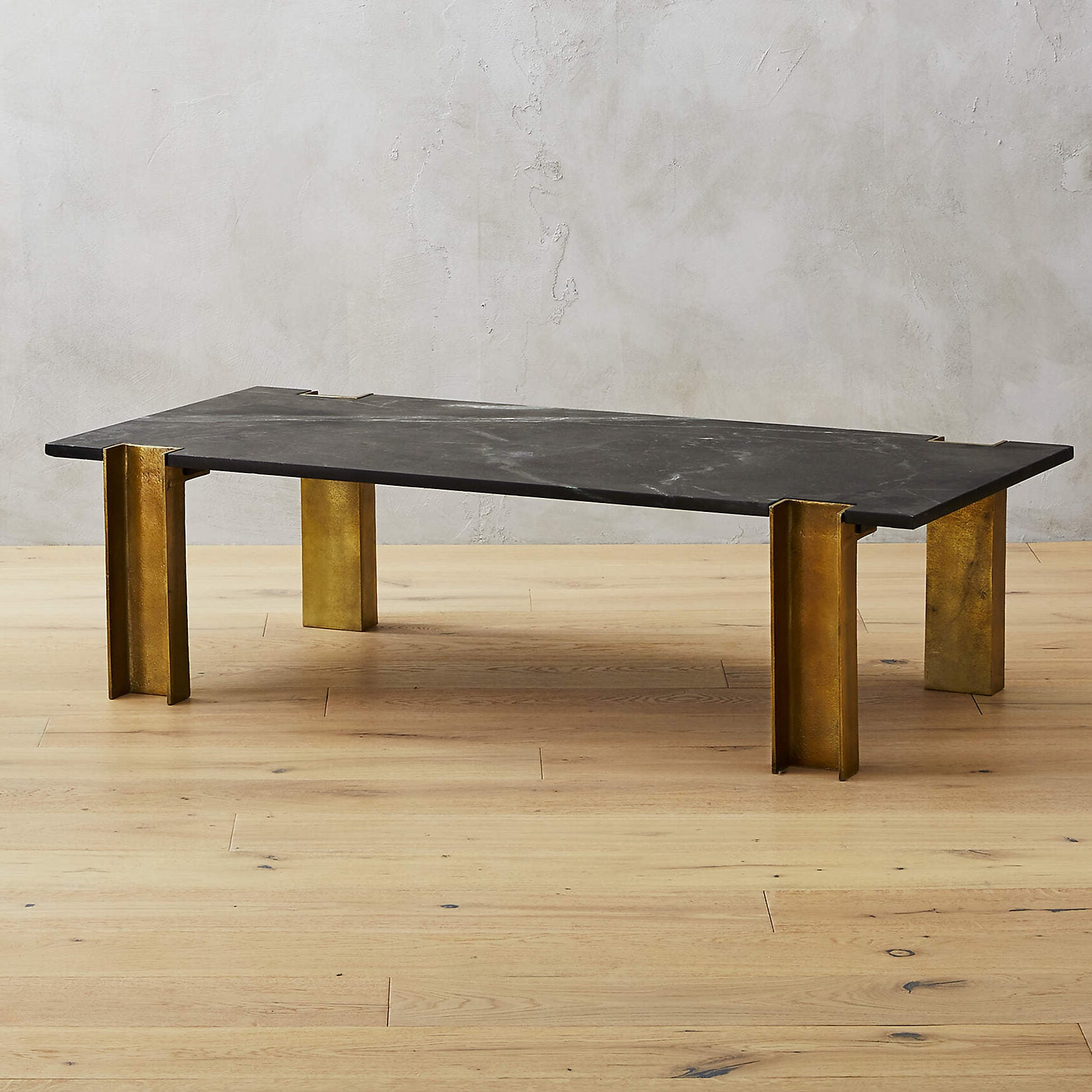 cb2 alcide black marble coffee table