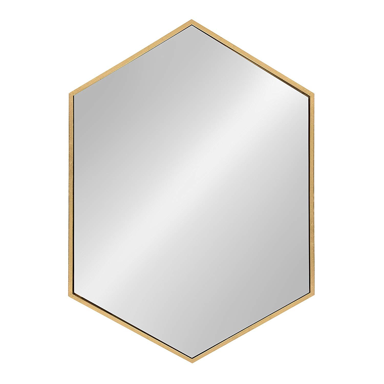 WATER SIGNS : Kate and Laurel McNeer Hexagon Metal Frame Wall Mirror