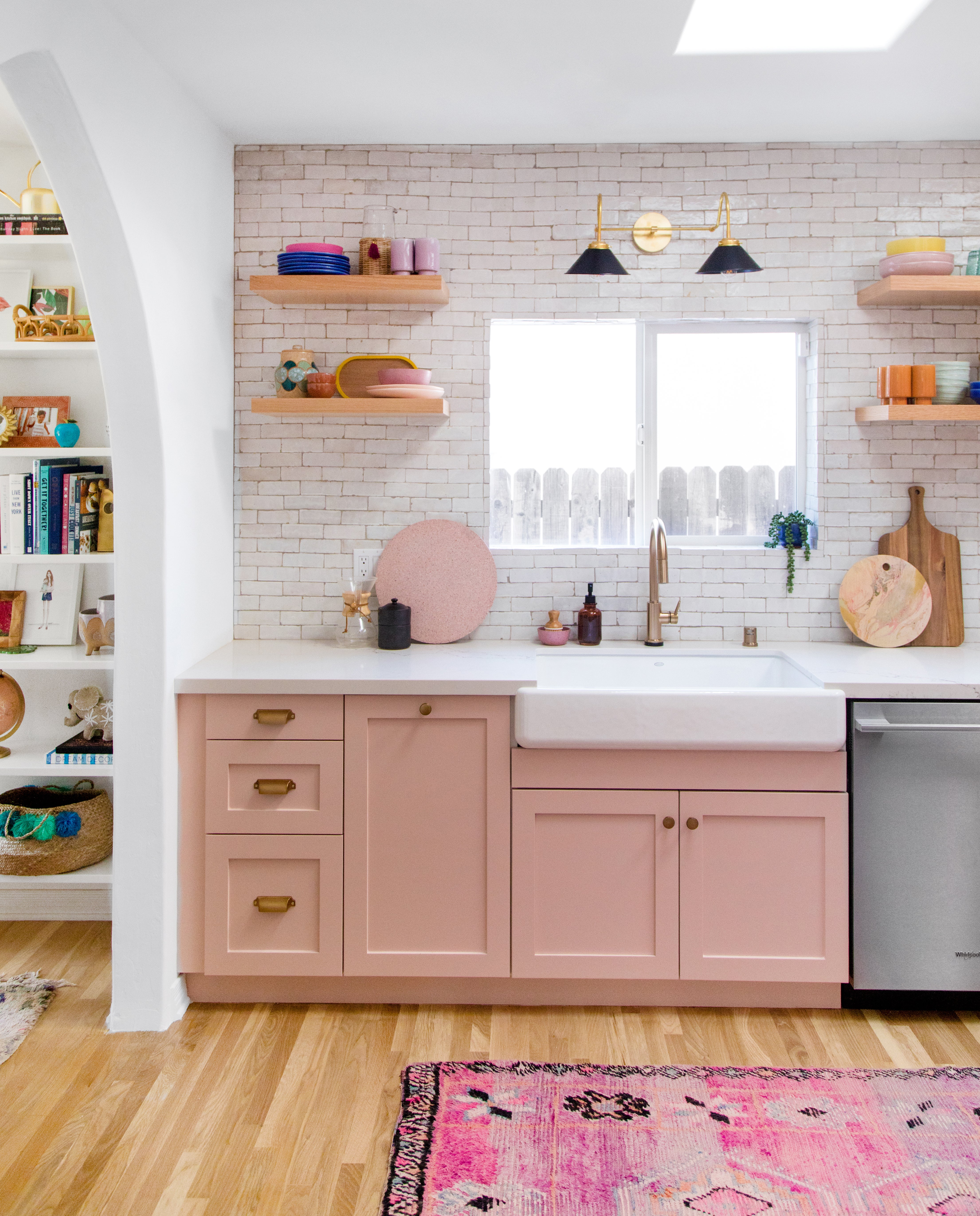 Kitchen Transformations: Studio DIY's Pink Kitchen Transformation Seriously Wows