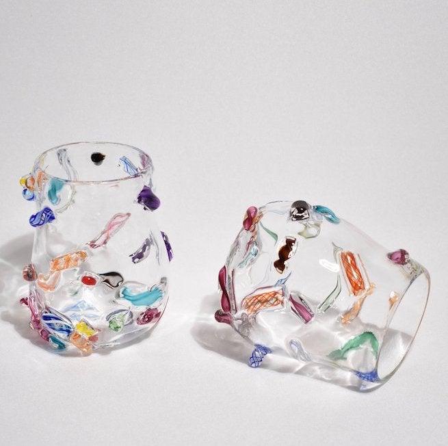 BLOWN GLASS TUMBLER SET 2