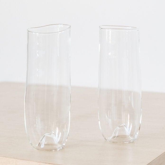ORGANIC SHAPED CHAMPAGNE GLASS 2
