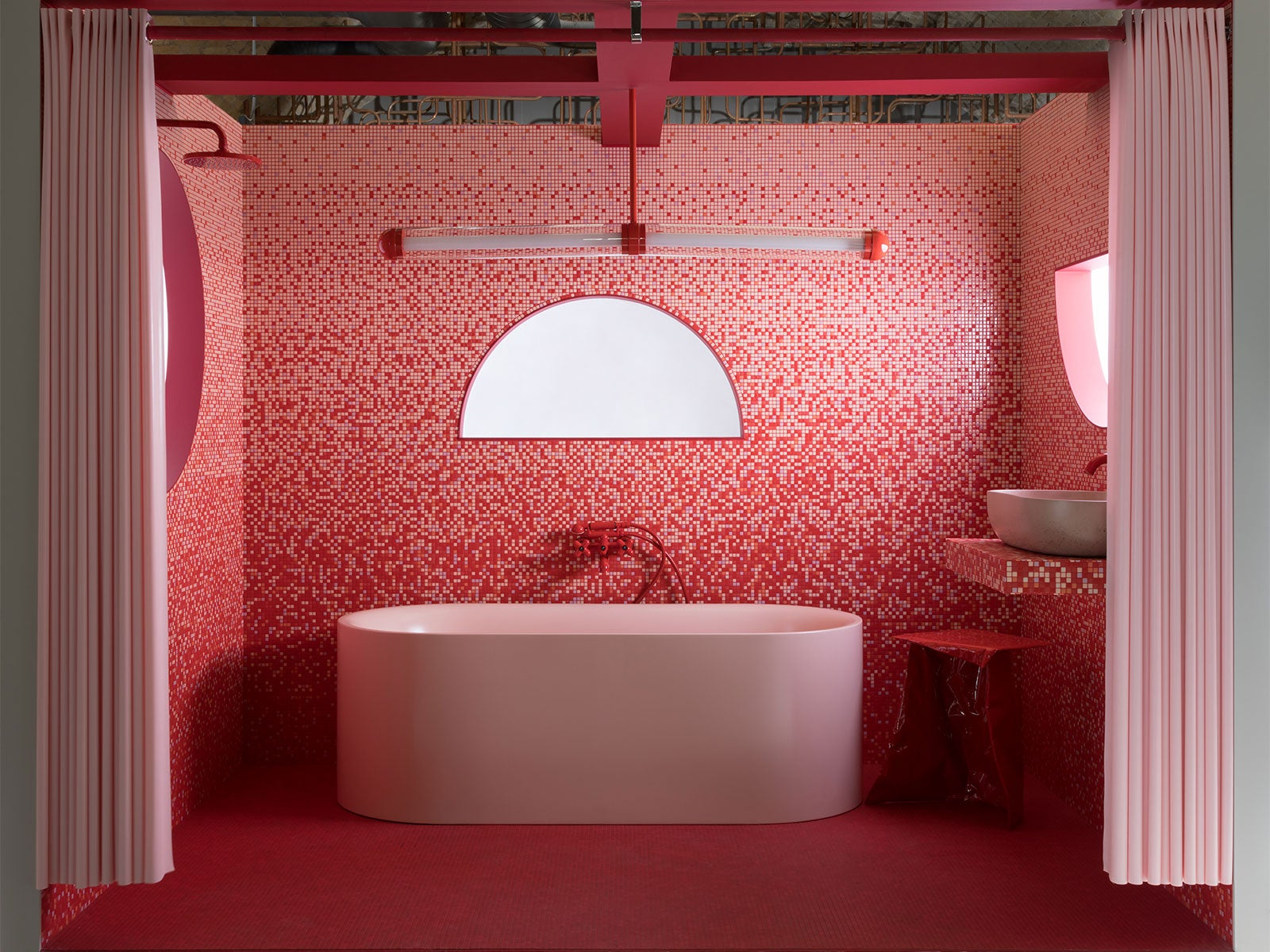 Bathroom installation for CP Hart, featuring Bisazza mosaic tiles, designed by 2LG Studio(1)