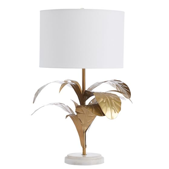 Palm Leaf Table Lamp