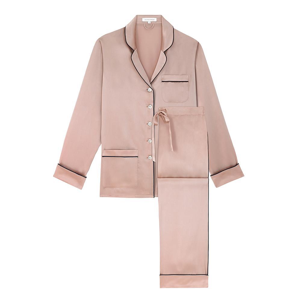 Coco Oyster Silk Pajamas