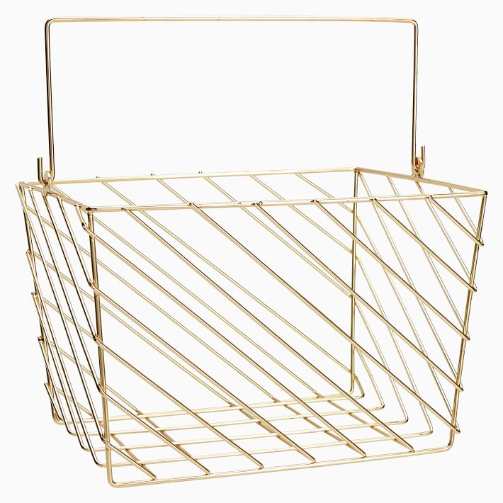 Extra Large Wire Shower Caddy, Gold