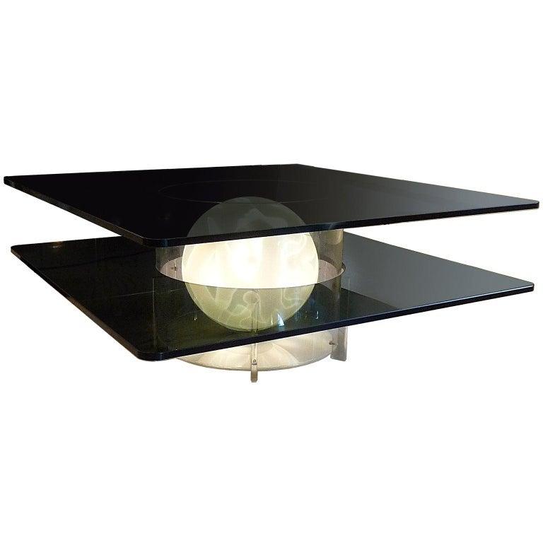 ILLUMINATED FURNITURE _ Unique Murano Illuminated Coffee Table
