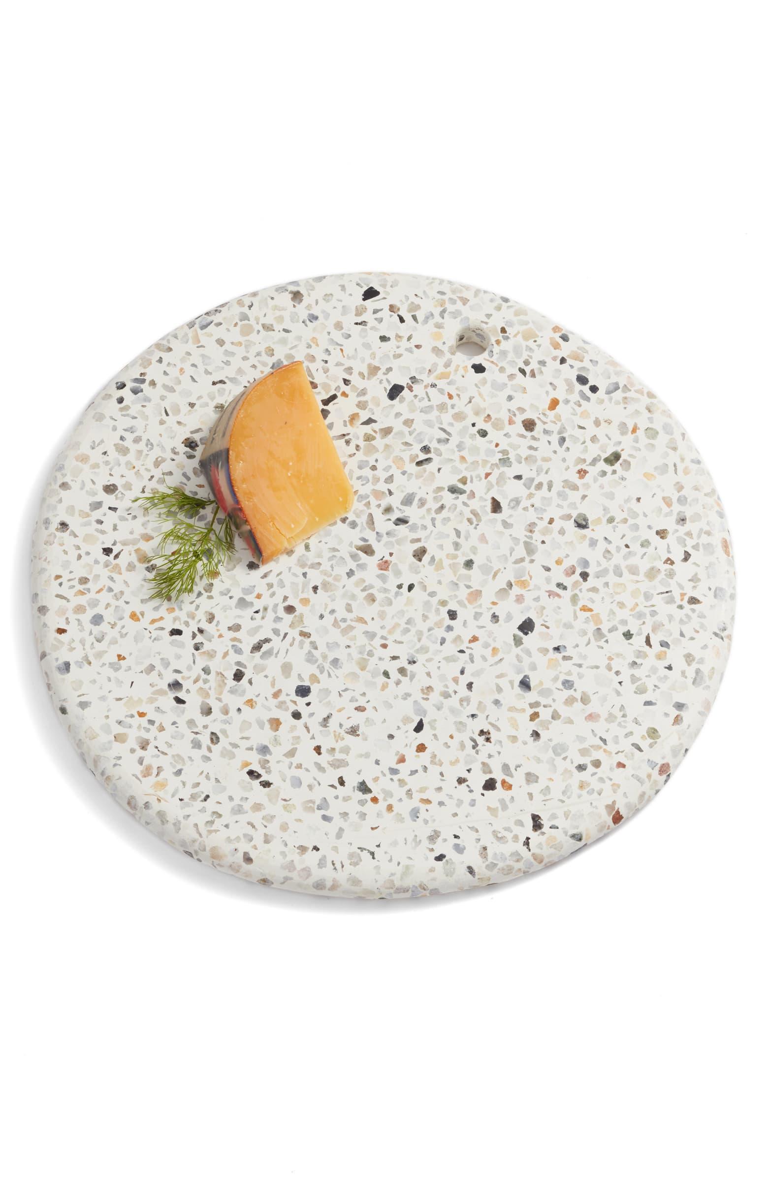 Round Terrazzo Marble Serving Board